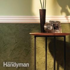 Transform your room with Venetian plaster wall texture and urethane moldings. It's a great weekend project.