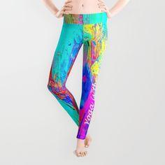 Calmed your mind Leggings by azima Summer Of Love, Yoga Meditation, Namaste, Yoga Pants, Boho Fashion, Boho Chic, Opportunity, Pop Art, Mindfulness