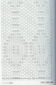 Lace Knitting Stitch #68 bellissimo punta con punto riso al centro dei rombi