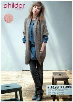 MES FAVORIS TRICOT-CROCHET: Modèle gratuit : la veste au tricot pour femme