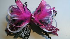 beautiful boutique stacked hairbow