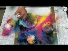 Spray Paint Art - Cosmic Scene - by: Trasher