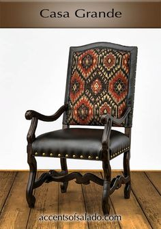 TUSCAN STYLE DINING CHAIR -RED - @ Accents of Salado. NEW for 2017!