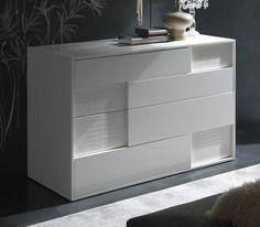Rossetto Nightfly White Dresser Las Vegas Furniture Online | LasVegasFurnitureOnline | Lasvegasfurnitureonline.com