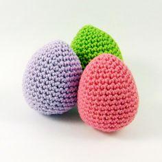 Gehäkelte Ostereier Crochet Easter eggs by Bibuki via DaWanda.com