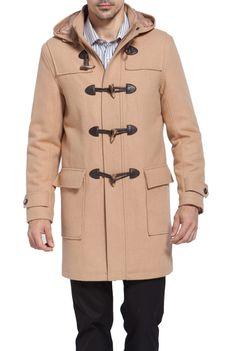 Visvim Slim-Fit Wool Hooded Duffle Coat | Mens Wool Coats | Pinterest