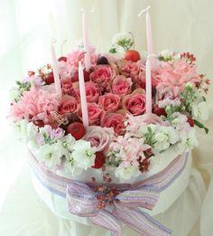 ウェディングとお誕生日2 結婚式の花の演出