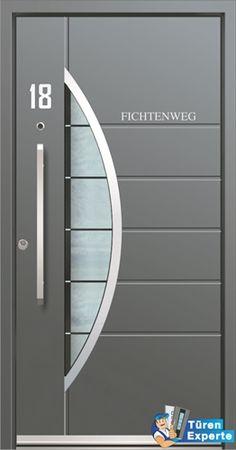 Moderne Haustüre AEE 1070 mit Edelstahl Applikation