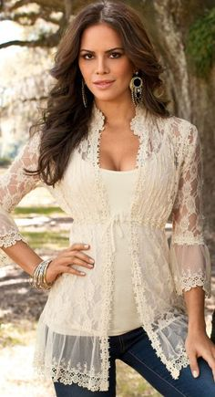 Lace Tunic in White
