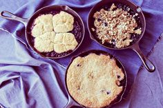 Fruit Cobbler 3 Ways