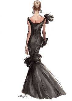 THE BLACK SWAN ANNIVERSARY. Sketch, illustration, fashion.