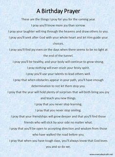 A Birthday Prayer from Everyday Truth ~ She writes her children a birthday prayer each year, what a great idea!!