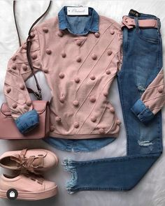 Casual styles for college girls casual outfits for high school 60 best outfits 92 ~ litledress Mode Outfits, Trendy Outfits, Fashion Outfits, Jeans Fashion, Fashion Clothes, Fashion Mode, Trendy Fashion, Womens Fashion, Moda Fashion