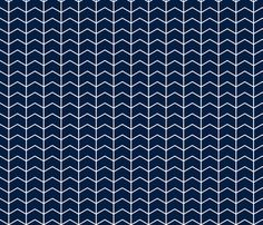 chevron // navy - Northern Lights fabric by littlearrowdesign on Spoonflower - custom fabric