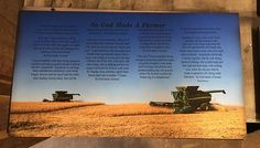 Father's Day - So God Made A Farmer Wood Sign Plaque Canvas Wall Decor Custom Photo Christmas, Mother's Day, Arial Farm Photo, Your Photo