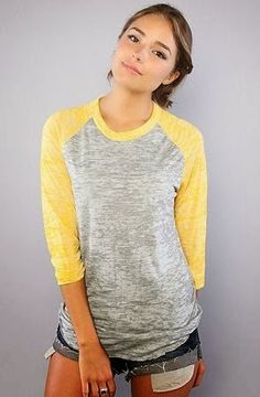Teen Casual Clothing I have a Shirt like this but its purple and grey instead of yellow and grey