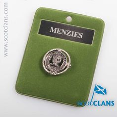 Menzies Clan Crest Badge. Free worldwide shipping available