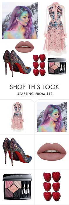 """""""Untitled #9"""" by andra20 ❤ liked on Polyvore featuring Elie Saab, The Gypsy Shrine, Christian Louboutin, Christian Dior and fashionbabe55"""