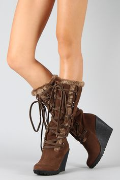 Advice To Help You Better Understand Shoes -- You can get additional details at the image link. Lace Up Wedge Boots, Knee High Wedge Boots, Lace Up Wedges, Heeled Boots, Shoe Boots, Boot Heels, Flat Boots, Head Over Boots, Sneakers Fashion