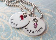 Handstamped Best Friend Necklaces