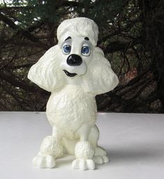 WHITE POODLE FIGURINE PETS WITH PERSONALTY ZSA ZSA   eBay