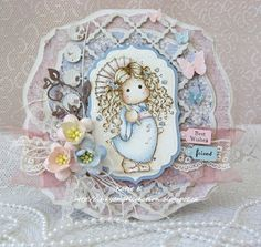 Inky Angel: Tripping Flower Tilda - Girly Card at The Ribbon Girls