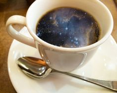 """COSMIC COFFEE CUP / 10x8"""" Printable Poster / Universe in a Mug Surreal Photography / Galaxy Print Photo // by BottleCapGuru"""