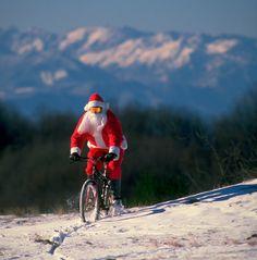 Mountain biking Santa