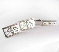 A Date to Remember Cufflinks Vintage Tie Clip by NeatstuffAntiques, $145.00
