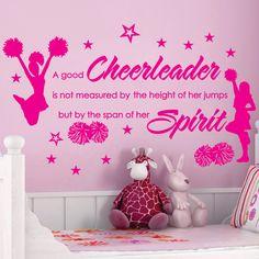 CHEER Cheerleaders Poms GIRLS Stars Custom by SunshineGraphix, $20.99