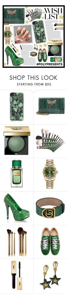 """#PolyPresents: Wish List"" by beanpod ❤ liked on Polyvore featuring Casetify, Gucci, Bobbi Brown Cosmetics, Dolce&Gabbana, Rolex, Sephora Collection, Yves Saint Laurent, Valentino, contestentry and polyPresents"