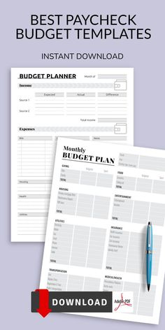 This collection of Paycheck Budget Templates created to keep you organized, focused, and more productive, without the unnecessary clutter. Remember. Time is vital, so use it wisely! Write down everything that requires your attention, leave useful reminders of upcoming events, prioritize and add new goals that you want to achieve in work, training, favorite things and so on. Monthly Budget Planner, Identity Theft, Prioritize, Planner Template, Budget Meals, Budget Templates, Budgeting, Entertaining, How To Plan