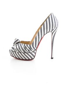 Christian Louboutin Stripe Pumps.
