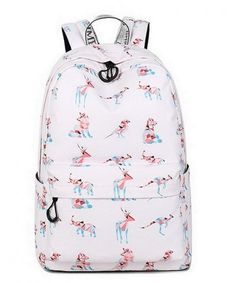 3eca40ef8c39 Waterproof Fashion Print Backpack Cute School Book Bag for Boy and Girl  (Pink Animal) - Pink Animal - CZ18GRMO26X