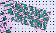 Fanzine - Mardi on Behance Creative Industries, Abstract Pattern, Textures Patterns, Zine, Event Design, Packaging Design, Design Trends, Screen Printing, Branding