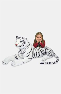 Melissa & Doug Oversized Plush Stuffed White Tiger | Nordstrom - Marin