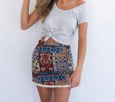 Pencil Mini Skirt Of Cotton   Buy Women's Clothing   Zorket