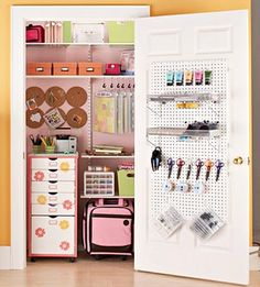 Craft Room Organization by LisaLynn59... Like the closet idea keep it all organized and out of sight when not needed
