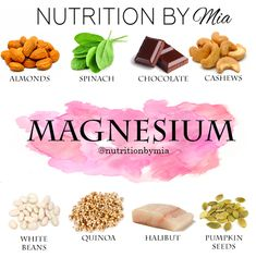 Nutrient Series: Magnesium - Nutrition By Mia Juicing For Health, Health And Nutrition, Health And Wellness, Health Fitness, Health And Beauty Tips, Health Tips, Magnesium Foods, Natural Health Remedies, Food Facts