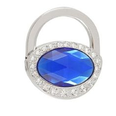 """Amico Rhinestone Studded Blue Faux Crystal Padlock Shape Foldable Handbag Hook by Amico. $5.53. Main Material : Alloy & Rubber;Color : Silver Tone, Blue. Net Weight : 51g. Package Content : 1 x Foldable Handbag Hook. Folded Size : ~4.9 x 4 x 0.8cm/ 1.9"""" x 1.6"""" x 0.3"""" (L*W*T);Opened Height : 8.7cm/ 3.4"""". Product Name : Handbag Hook;Design : Pedlock shape, Rhinstone Detailings, Faceted Plastic Crystal. Keep your bag Safe and Clean when having dinner or drinking coffee. Fold..."""