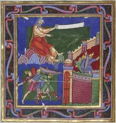 Jeremiah / Soldiers Attack Jerusalem, from the Bury_Bible