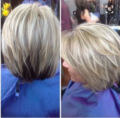 Platinum blond with honey beige and brown highlights