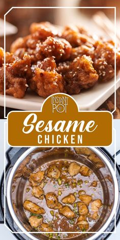 Let's make pressure cooker sesame chicken for dinner!    A tremendously delicious and amazing Asian cuisine to delight your taste buds and fulfill your cravings.    Serve it with Jasmine rice and steamed vegetables for a complete meal.