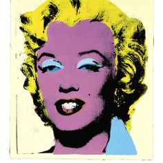 Andy Warhol (American, 1928-1987). Lemon Marilyn, 1962. Synthetic polymer, silkscreen inks and acrylic on canvas. 20 x 16 in. (50.8 x 40.6 cm.). © Andy Warhol Foundation for the Visual Arts.