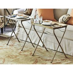 Set of 2 Café Tray Tables: now available at ballarddesigns.com
