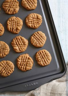These flour-less almond butter cookies are SO good, and made with only 3 ingredients (almond...