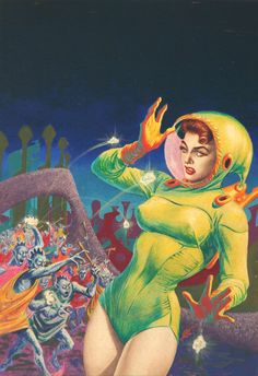 1950s science fiction art | ... and Deb Fulton/Frank Kelly Freas - Super-Science Stories August 1957