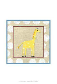 Katherine's Giraffe Art Print