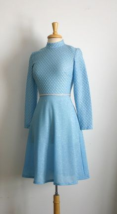 1960s shimmering powder blue high waist long by TheArborVitae, $31.00