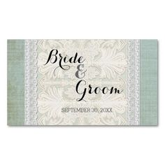 Favor Gift Tags Rustic Lace w Aged Vintage Linen Business Card Template